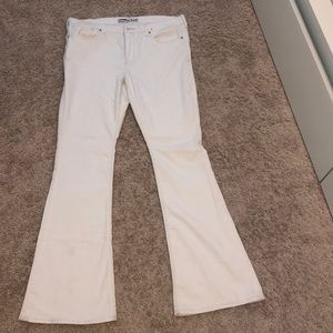 Express White Bell Bottom Jeans